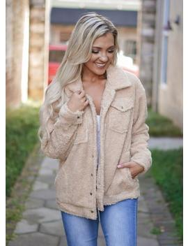 Sherpa Jacket   Golden by Rosie Daze