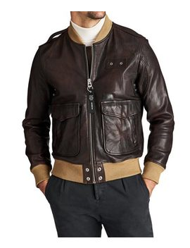 Leather Bomber Jacket by Diesel Leather Bomber Jacket