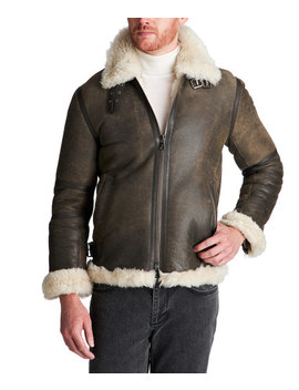 Shearling Jacket by John Varvatos Collection Shearling Jacket