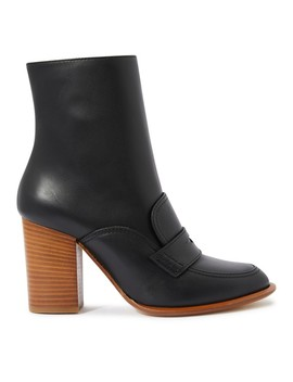 leather-ankle-boots- by loewe