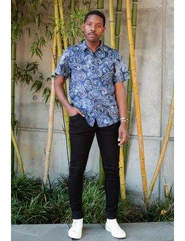 raga-man-paisley-print-shirt---blue by garmentory