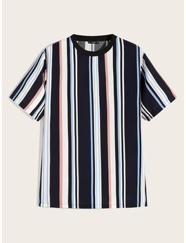 guys-contrast-neck-striped-top by romwe