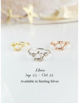 libra-ring-zodiac-ring-libra,-birthday-jewelry,-zodiac-jewelry-constellation-jewelry-celestial-ring-gift-for-women-cubic-zirconia-ring by etsy