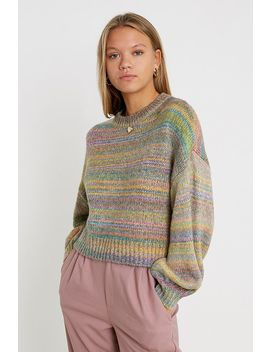 uo-spacedye-balloon-sleeve-jumper by urban-outfitters