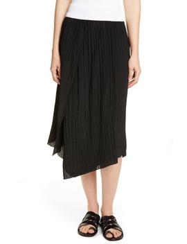 crinkle-pleated-asymmetrical-skirt by vince
