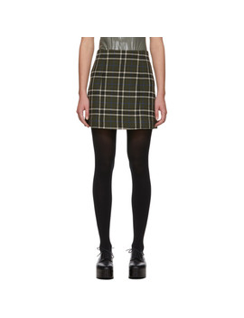 green-check-please-miniskirt by alexachung