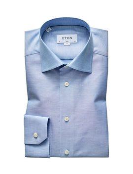 Slim Fit Cotton Linen Dress Shirt by Eton Slim Fit Cotton Linen Dress Shirt