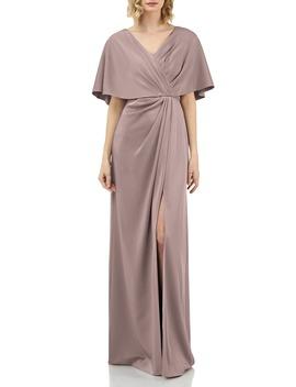 luna-drape-neck-gown by kay-unger