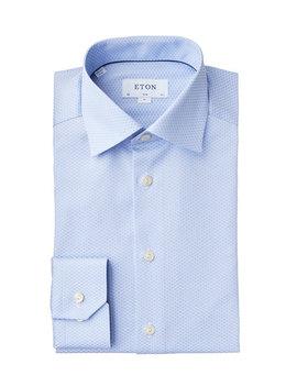 Slim Fit Printed Dress Shirt by Eton Slim Fit Printed Dress Shirt