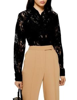 burnout-lace-shirt by topshop