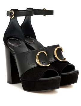 chloé-c-platform-leather-sandals by chloé