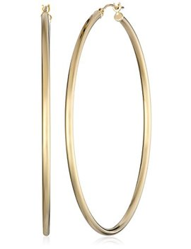 "14k-yellow-gold-hoop-earrings-(2""-diameter) by amazon-collection"