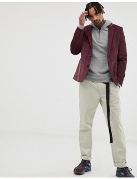 asos-design-cord-relaxed-slim-blazer-in-purple by asos-design