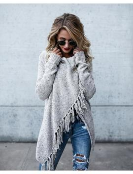 speckled-fringe-cardigan---light-grey by vici