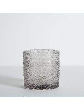 embossed-glass-grey-tumbler by dunelm