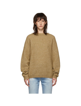 brown-dramatic-mohair-sweater by acne-studios