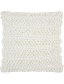 "nourison-life-styles-woven-stripes-decorative-throw-pillow,-20""-x-20"",-silver-grey by nourison"