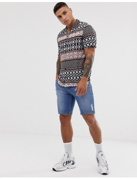 new-look---chemise-à-imprimé-abstrait by new-look