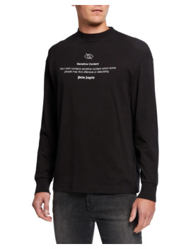 mens-sensitive-content-graphic-long-sleeve-t-shirt by palm-angels