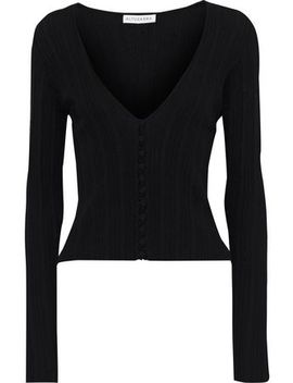 piazza-pointelle-knit-wool-and-cashmere-blend-cardigan by altuzarra