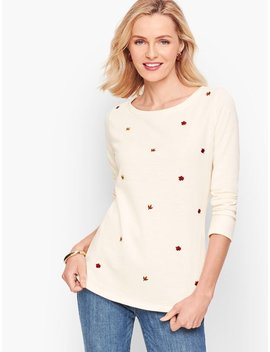 embroidered-leaves-tee by talbots