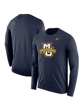 nike-marquette-golden-eagles-navy-legend-long-sleeve-performance-t-shirt by fansedge