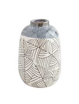 global-leaves-blue-vase by pier1-imports