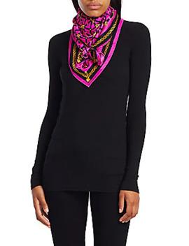 medusa-print-silk-square-scarf by versace
