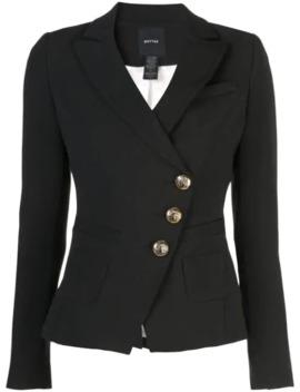diagonal-button-blazer by smythe