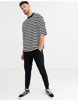asos-design-oversized-stripe-t-shirt-in-velour by asos-design