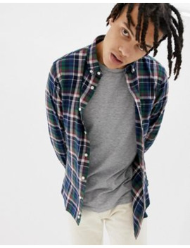 penfield-barhead-multi-flannel-check-buttondown-regular-fit-shirt-in-navy_green by penfield