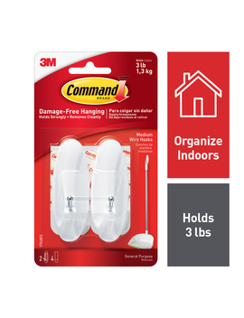 command-wire-hooks,-medium,-white,-14-hooks by command
