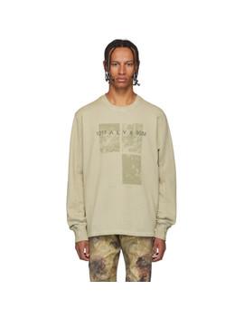 green-graphic-crewneck-sweatshirt by 1017-alyx-9sm