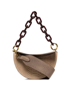 snake-effect-chain-and-leather-shoulder-bag by yuzefi