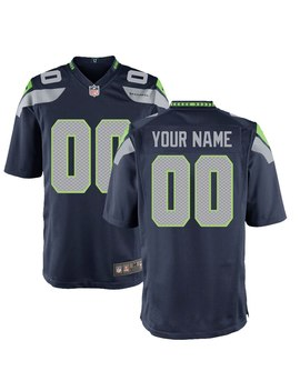 youth-seattle-seahawks-nike-college-navy-custom-game-jersey by nfl