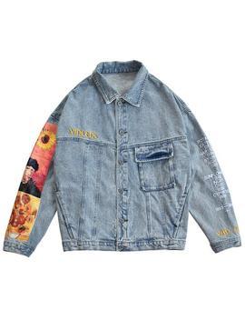 Van Gogh Denim Jacket by Boogzel Apparel