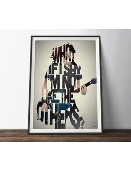 foo-fighters-music-poster---limited-edition-typography-lyrics-art-print-dave-grohl-word-art-gift-for-him-or-her by etsy