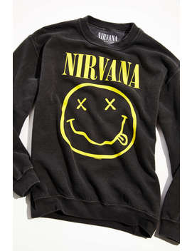 nirvana-crew-neck-sweatshirt by urban-outfitters