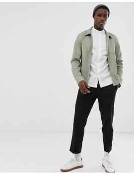 jack-&-jones-premium-kimono-sleeve-longline-shirt-in-white-with-grandad-collar by jack-&-jones