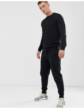asos-design-tracksuit-with-tapered-sweatpants-in-black by asos-design