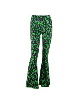 Toxic Flame Flared Pants by Boogzel Apparel