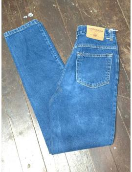 mom-jeans-size-26,-vintage-90s-london-jean,-sandblasted-blue,-high-waisted-mom-jeans,-size-4,-high-waist-straight-leg-26-27,-made-in-usa by etsy