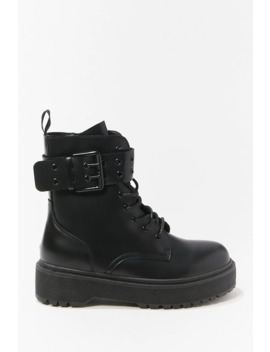 platform-combat-boots by forever-21