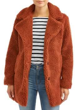 jason-maxwell-womens-collared-long-teddy-jacket by jason-maxwell
