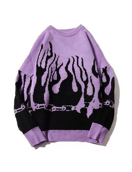 flamin-sweater by boogzel-apparel