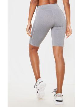 grey-marl-mid-rise-long-gym-bike-shorts by prettylittlething