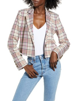 plaid-crop-jacket by leith