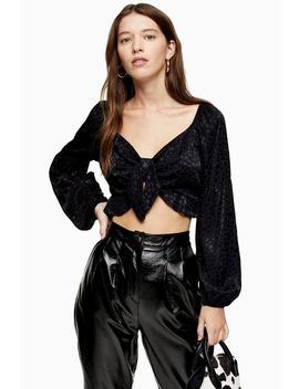 heart-front-prairie-blouse by topshop
