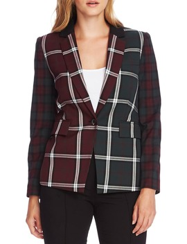 mixed-plaid-blazer by vince-camuto