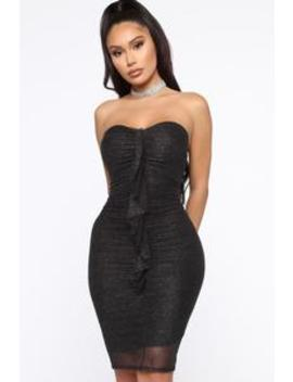 leading-them-on-glitter-mini-dress---black by fashion-nova